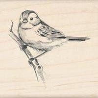 "Sparrow - Inkadinkado Mounted Rubber Stamp 2.25""X2.25"""