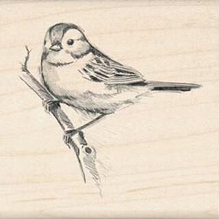 """Sparrow - Inkadinkado Mounted Rubber Stamp 2.25""""X2.25"""""""