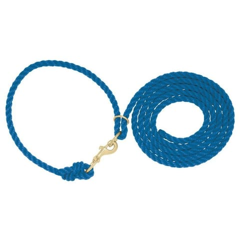 "Weaver 35-4040-BL Livestock Adjustable Poly Neck Rope, Blue, 1/2"" x 10'"