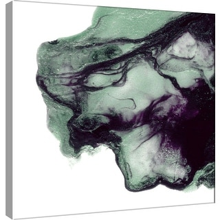 """PTM Images 9-101064  PTM Canvas Collection 12"""" x 12"""" - """"Polished in Mint and Grape"""" Giclee Abstract Art Print on Canvas"""