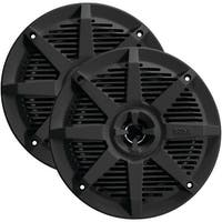"BOSS AUDIO MR52B 2-Way Full-Range Marine Speakers (5.25"", Black)"