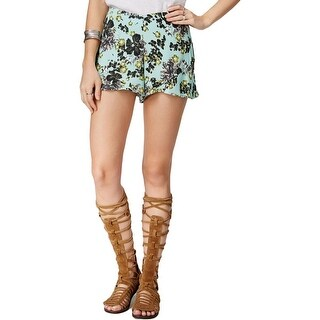 Free People Womens Casual Shorts Floral Print Flat Front