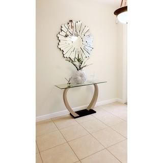 Abbyson Empire Burst Round Wall Mirror - Silver