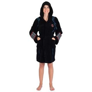 Marvel Ladies Black Widow Avengers Fleece Robe (One Size)