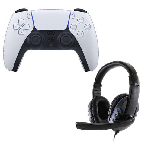 DulalSense Controller with universal headset - White