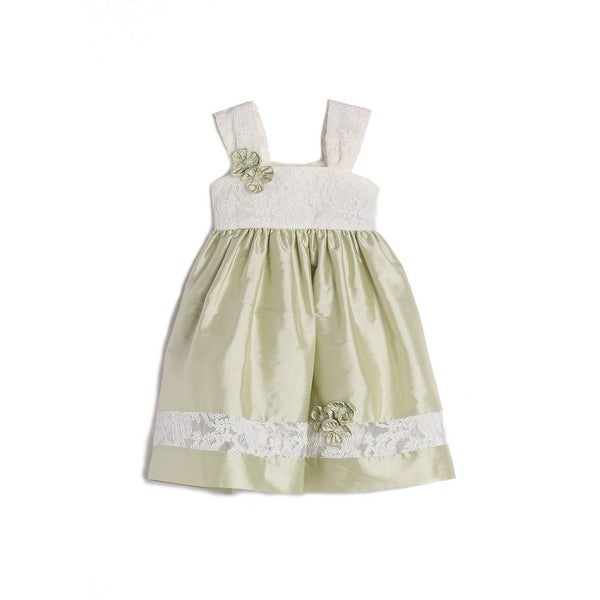 Isobella & Chloe Baby Girls Green Lace Strap Easter Dress 18M
