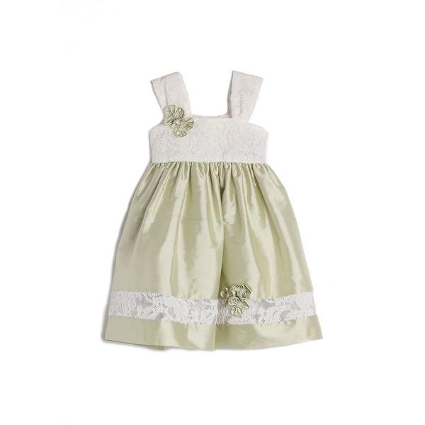 Isobella & Chloe Baby Girls Green Lace Strap Easter Dress 3M