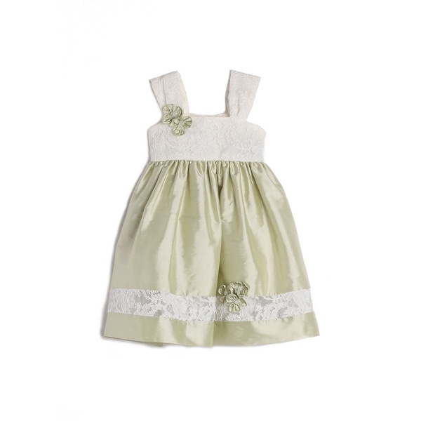 Isobella & Chloe Baby Girls Green Lace Strap Easter Dress 9M