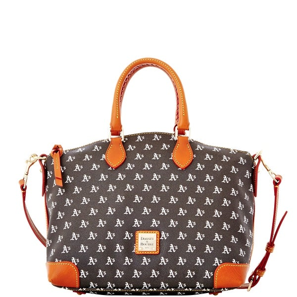 Dooney & Bourke MLB Athletics Satchel (Introduced by Dooney & Bourke at $248 in Feb 2015) - Black