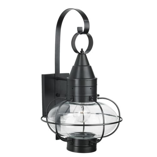 "Norwell Lighting 1512 Classic Onion Single Light 19"" Tall Outdoor Wall Sconce with Glass Shade"