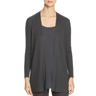 Eileen Fisher Womens Petites Cardigan Sweater Tencel Open Front - ps