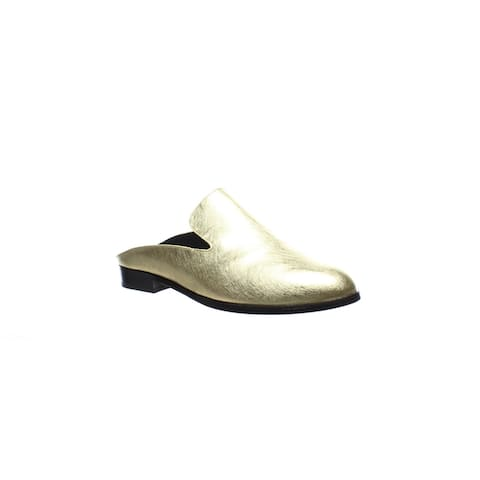 Robert Clergerie Womens Alicen Gold Mules Size 5.5