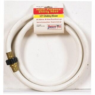 "American Specialty CELMRV12010 Multi-Purpose Utility Hose, 1/2"" x 10', White"