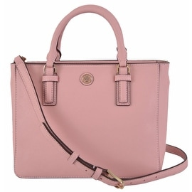 NEW Tory Burch 41159710 PINK Saffiano Leather Robinson Mini Square Tote Purse