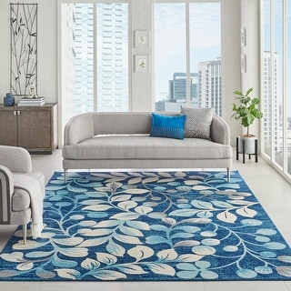 Link to Nourison Tranquil Botanical Area Rug Similar Items in Transitional Rugs