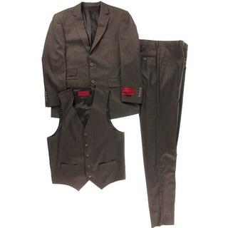Emigre Mens Pinstripe Flat Front Pant Suit - 38s