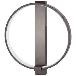 """Kovacs P1779-675-L Bypass 12"""" Tall Integrated LED Wall Sconce with Round Acrylic - Chocolate"""