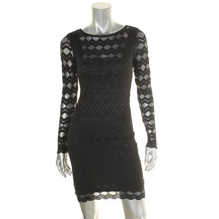 Jump Apparel Womens Juniors Party Dress Bodycon Lace - XS