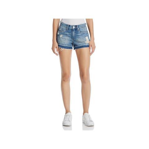 Blank NYC Womens Cutoff Shorts Denim Distressed