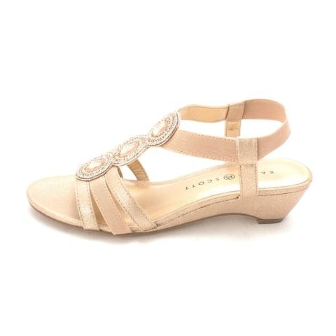 2c8815e8063e Karen Scott Womens Casha Fabric Open Toe Casual Slingback Sandals