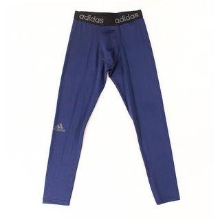 Adidas Blue Men's Size Large L Logo Printed Base Layers Pants