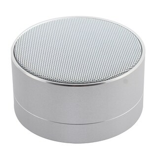 Smartphone bluetooth Wireless USB Stereo Music Surround Speaker Silver Tone