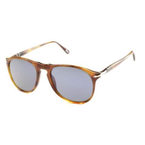 Persol PO 9649 96/56 52mm Unisex Havana Frame Blue Lens Sunglasses