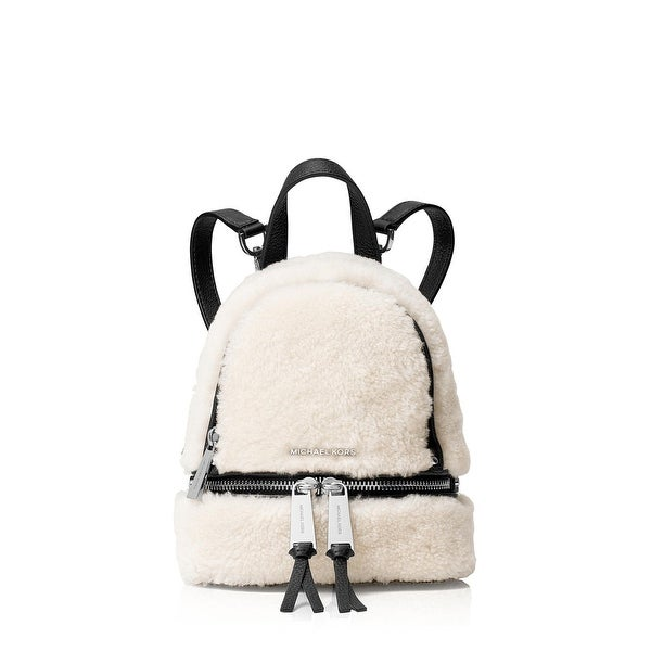 43ed4a684866 Shop MICHAEL Michael Kors Womens Backpack Shearling Leather trim ...