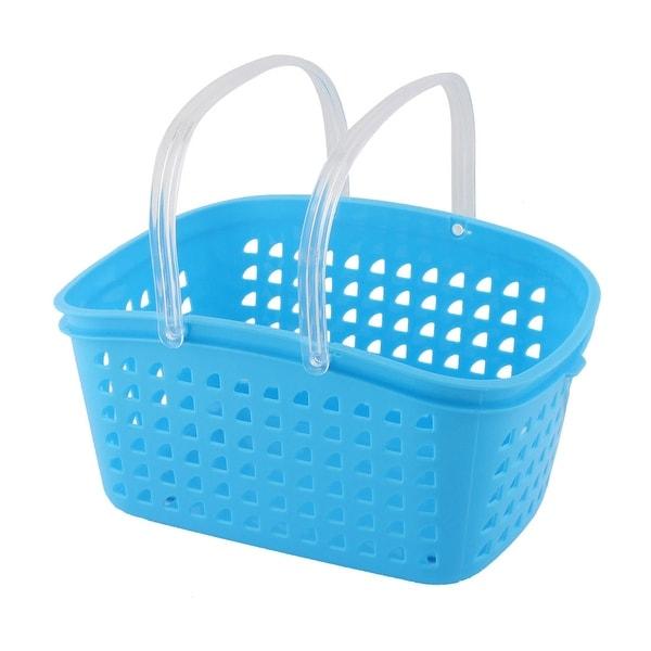 nouveau style a8800 86a3d Bathroom Plastic Handheld Shower Gel Soap Storage Organizer Basket Box Blue