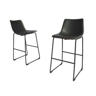 Link to Best Quality Furniture Modern 29-inch Faux Leather Bar Stool (Set of 2) Similar Items in Dining Room & Bar Furniture