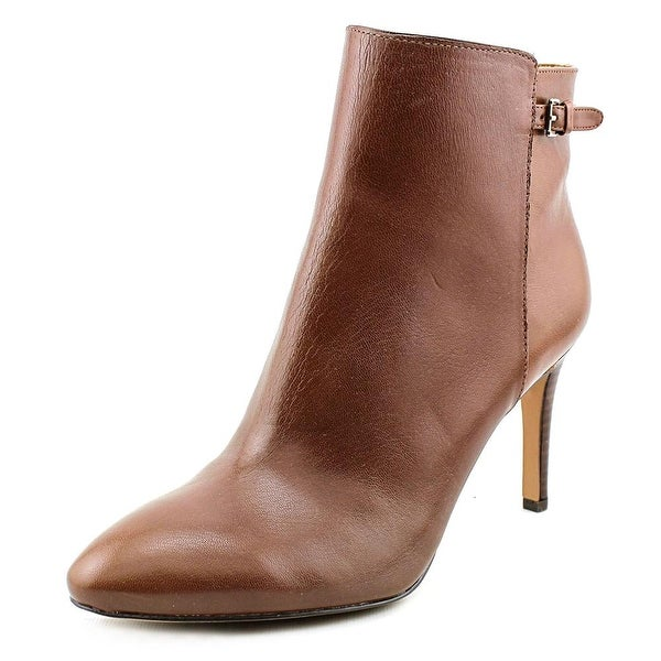 Nine West Powerhour Pointed Toe Leather Bootie