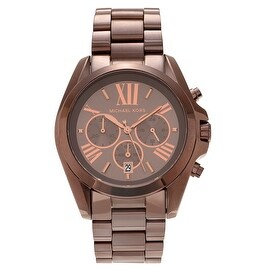 Michael Kors Men's 'Bradshaw' MK6247 Sable Stainless Steel Chronograph Bracelet Watch