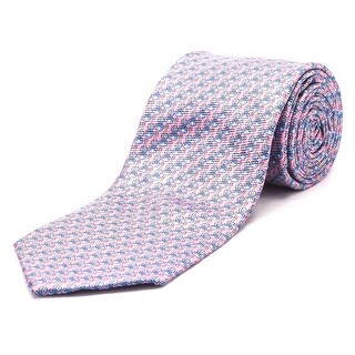 Ermenegildo Zegna Men Slim Silk Neck Tie Pink Blue