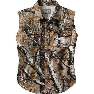 Legendary Whitetails Men's Country Boy Big Game Camo Cut Off Shirt - big game field camo