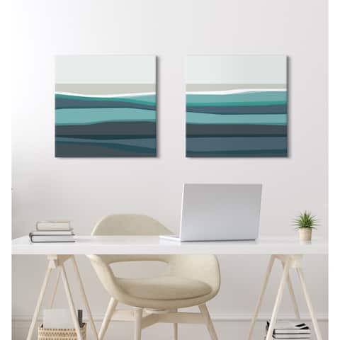 Kate and Laurel Beach Canvas Art Set by The Creative Bunch Studio