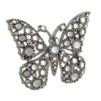 Crystal Rhinestone Butterfly Belt Buckle