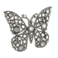 Crystal Rhinestone Butterfly Belt Buckle