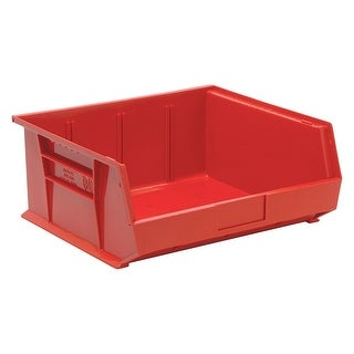 """Offex Plastic Storage Red Stack and Hang Bin 14-3/4"""" x 16-1/2"""" x 7"""" - 6 Pack"""