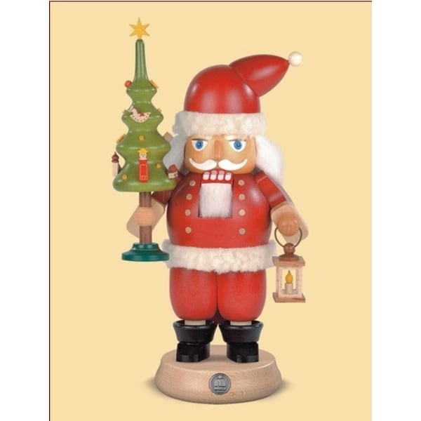 "9.5"" Müller Collectible German Santa Claus Wooden Nutcracker Christmas Table Top Figure - RED"