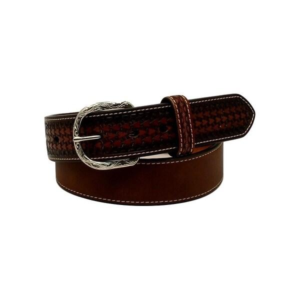 Nocona Western Belt Mens Diamond Conchos Top Hand Brown