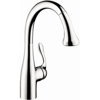 Hansgrohe 04066  Allegro E Pull-Down Kitchen Faucet Gourmet with High-Arc Spout, Magnetic Docking & Locking Spray Diverter