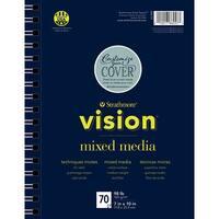 "Strathmore Vision Vellum Mixed Media Pad 7""X10""-98Lb, 70 Sheets"