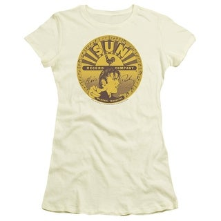 Sun Elvis Full Sun Label Juniors Short Sleeve Shirt