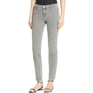J Brand Womens Zion Skinny Jeans Colored Button Pockets Gray 28