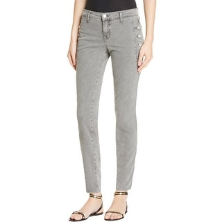 J Brand Womens Zion Skinny Jeans Colored Button Pockets Gray 27