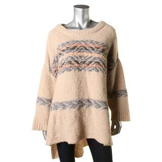 Free People Womens Alpaca Hi-Low Pullover Sweater