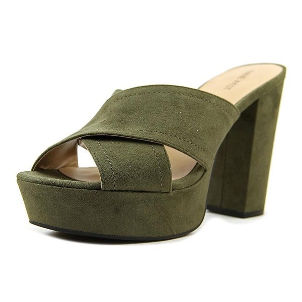 Nine West Sassy Grrl1 Women Green Sandals