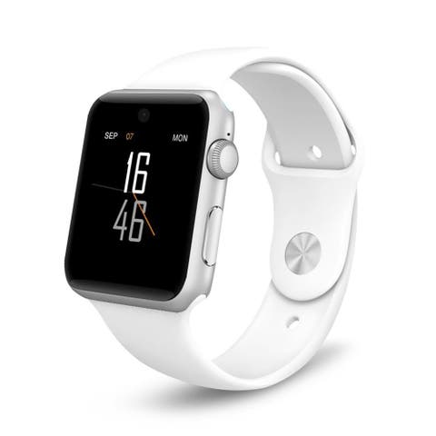 Bluetooth Smart Watch with SIM Card Slot 2.5D ARC HD Screen Wearable Devices Smartphone for IOS iPhone, Android Samsung - M