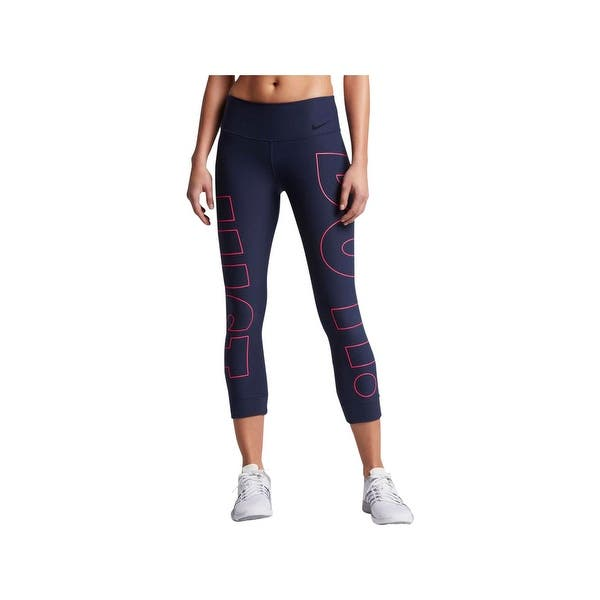 253ba3e70d312 Shop Nike Womens Athletic Leggings Cropped Tight Fit - Free Shipping ...