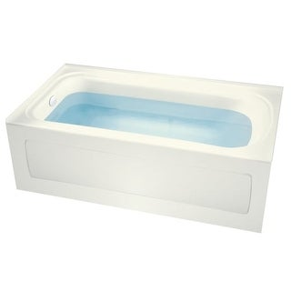 "Miseno MNO3260VAS-L Indulgence 60"" Three Wall Alcove Soaking Bathtub - Self Leveling Base and Overflow Drain Kit Included Free"